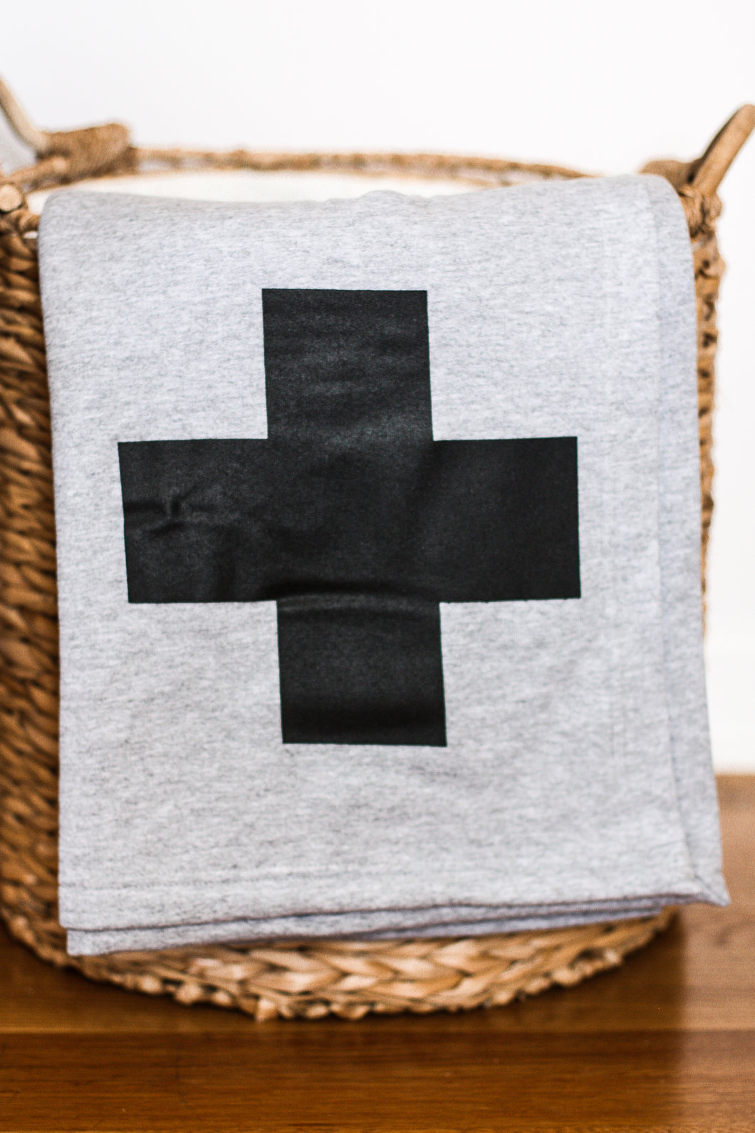 Sweatshirt Blanket Swiss Cross Gray