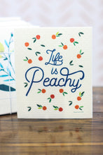 Load image into Gallery viewer, Swedish Dishcloth Life Is Peachy