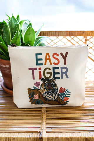 Canvas Pouch Easy Tiger
