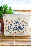 Canvas Pouch Life Is Peachy