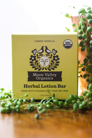 MV Lotion Bar Lemon Vanilla Herbal