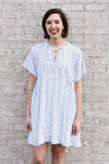 Navy And White Striped Dress Medium