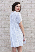 Load image into Gallery viewer, Navy And White Striped Dress Medium