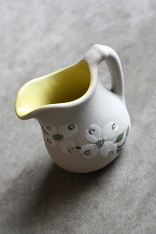 Handmade Pitcher Tan\Yellow