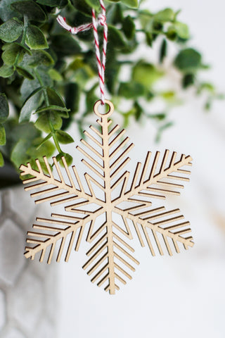 Wooden Ornament Snowflake #1