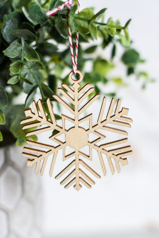 Wooden Ornament Snowflake #2