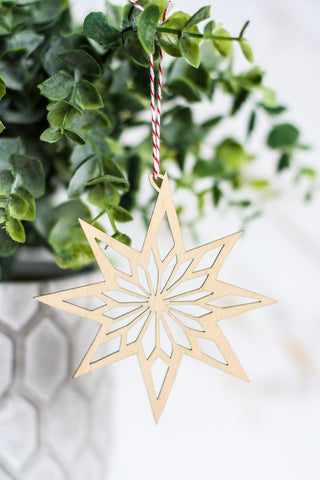 Wooden Ornament Star #1