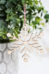 Wooden Ornament Snowflake #4