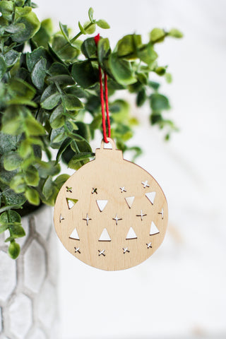 Wooden Ornament Classic #1