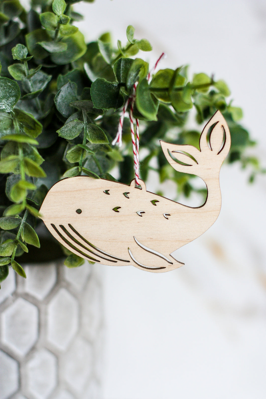 Wooden Ornament Whale