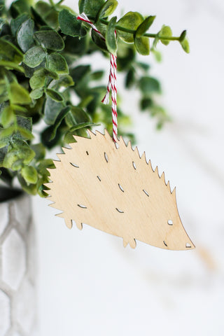 Wooden Ornament Hedgehog
