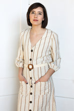 Load image into Gallery viewer, Striped Button Down Dress Medium