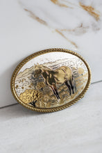 Load image into Gallery viewer, Two Toned Made In USA Horse Belt Buckle