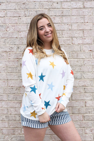 Multicolor Star Shirt Large