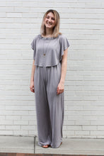 Load image into Gallery viewer, Lavender Ruffle Jumpsuit Medium