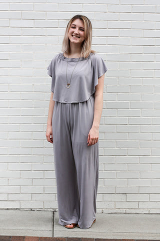 Lavender Ruffle Jumpsuit Medium