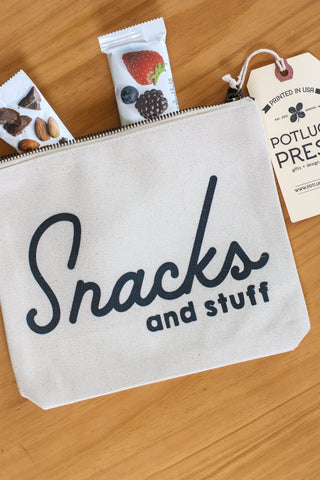 Canvas Pouch Snacks and Stuff