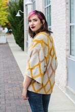 Load image into Gallery viewer, Mustard Diamond Cardigan Medium/Large