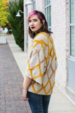 Mustard Diamond Cardigan Medium/Large