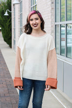 Load image into Gallery viewer, Color Block Knit Sweater Small
