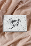Dahlia Press Card Thank you - polka dots