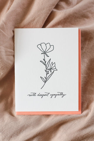 Dahlia Press Card deepest sympathy