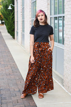 Load image into Gallery viewer, Animal Print Wide Leg Pants Medium