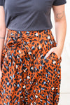 Animal Print Wide Leg Pants Large