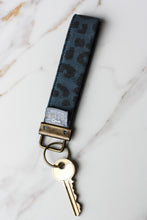 Load image into Gallery viewer, Key Fob Navy Leopard