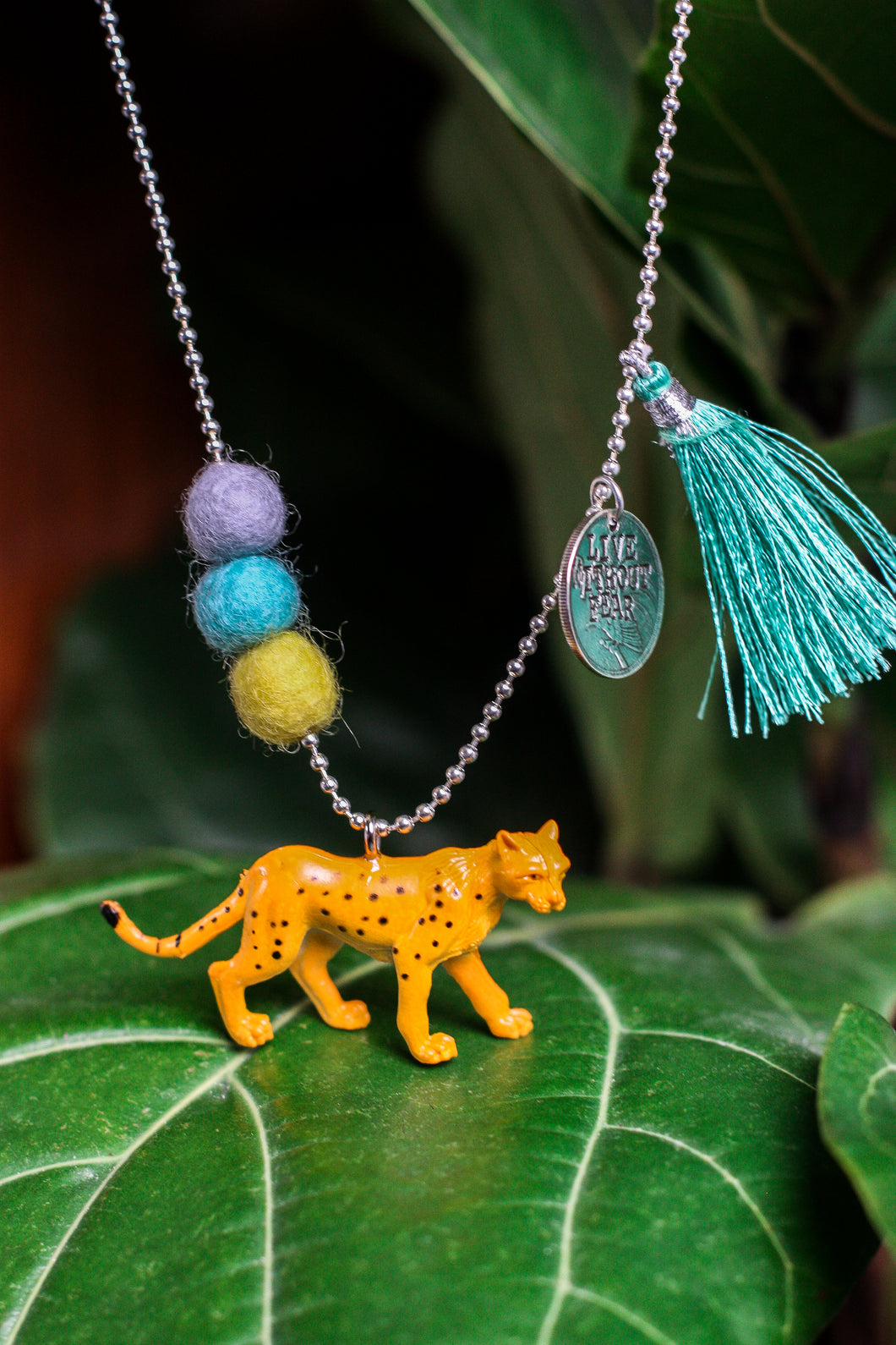 Animal Necklace  Cheetah