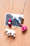 Animal Necklace  polar bear
