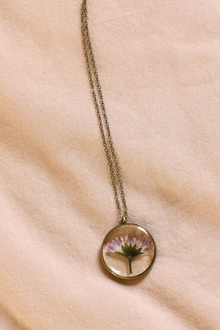 Pink Botanical Cameoko Necklace