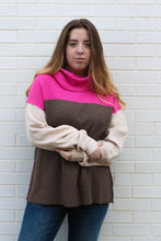 Load image into Gallery viewer, Pink Dolman Sweater Small