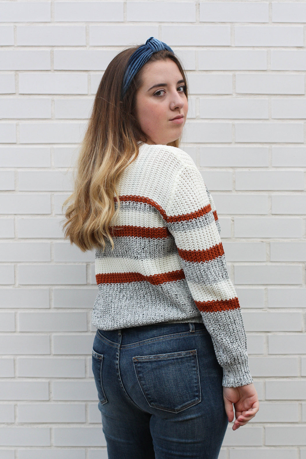 Color Blocked Sweater Small