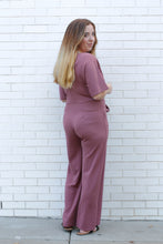 Load image into Gallery viewer, Mauve Tie Jumpsuit Small