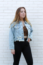 Load image into Gallery viewer, Distressed Denim Jacket Small