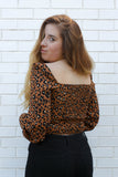 Leopard Print Crop Top Large