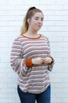 Multicolored Striped Long Sleeve Medium