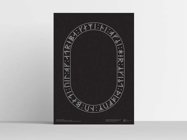 Unique runic posters by Sigurður Oddsson