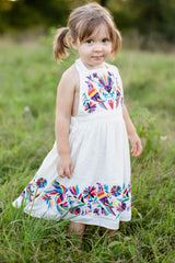 4 Let Her Fly White Embroidered Dress at reddressboutique.com