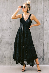 2 Above And Beyond Black Maxi Dress at reddress.com