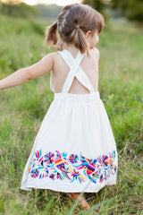 5 Let Her Fly White Embroidered Dress at reddressboutique.com