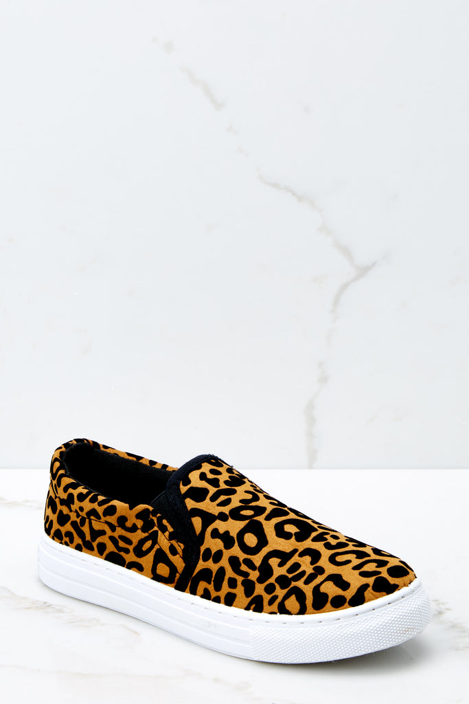 4 Shift The Ground Cheetah Slip On Sneakers at reddressboutique.com