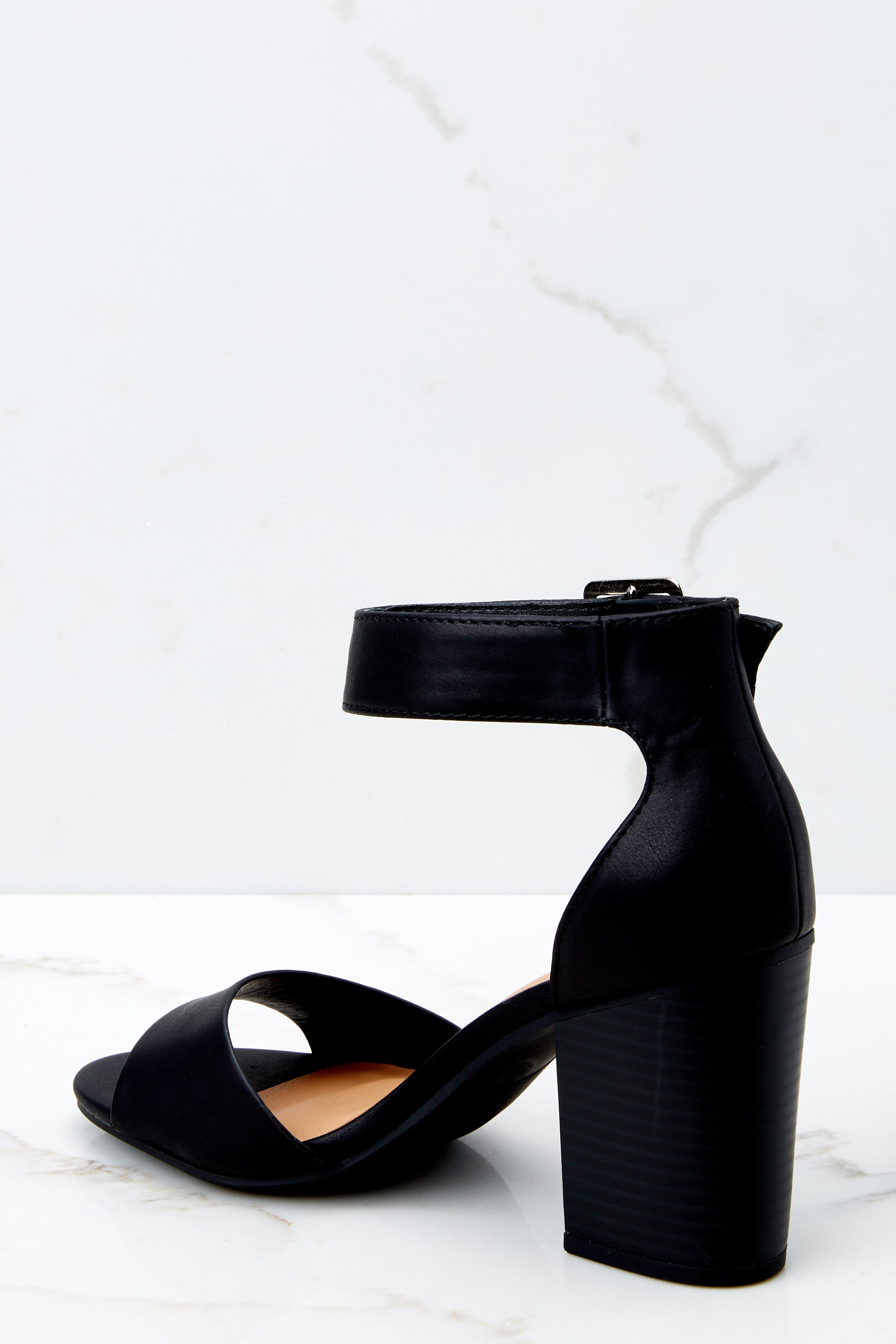 3 Make The Stand Black Ankle Strap Heels at reddressboutique.com