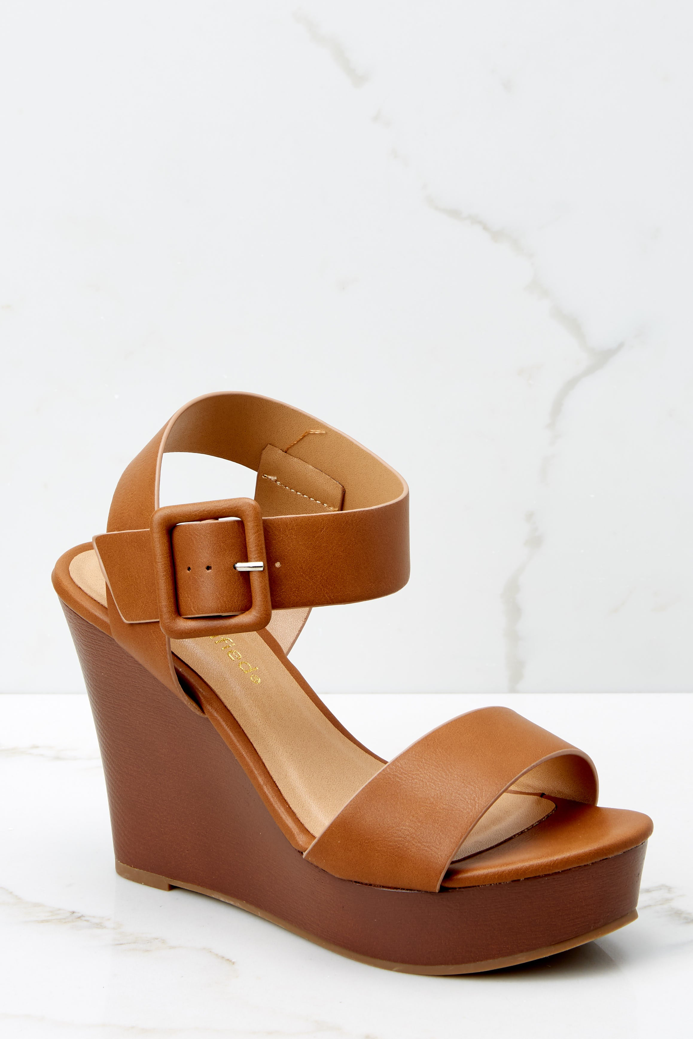 2 Work With It Brown Wedges at reddressboutique.com