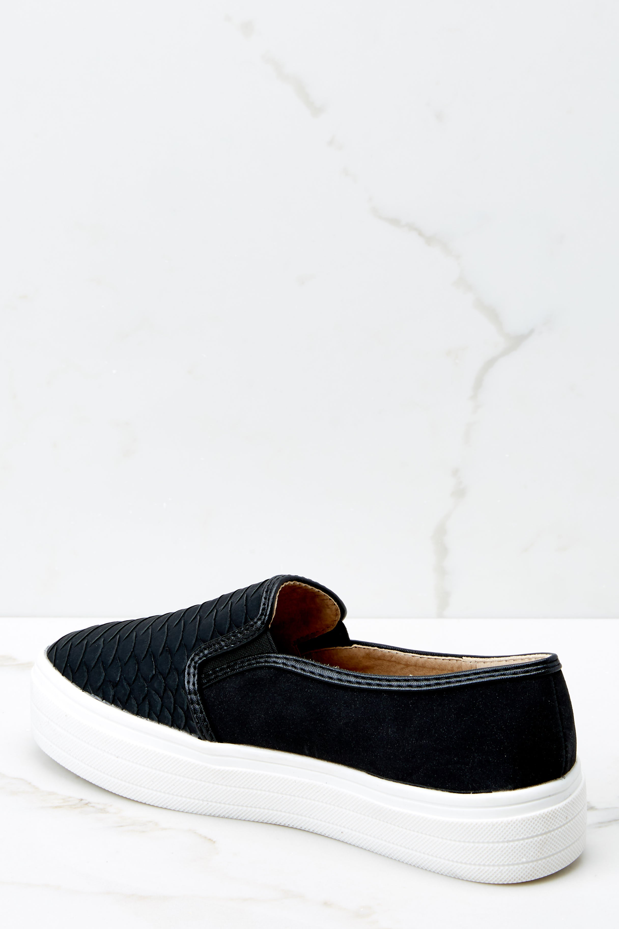3 Into High Gear Black Slip On Sneakers at reddressboutique.com