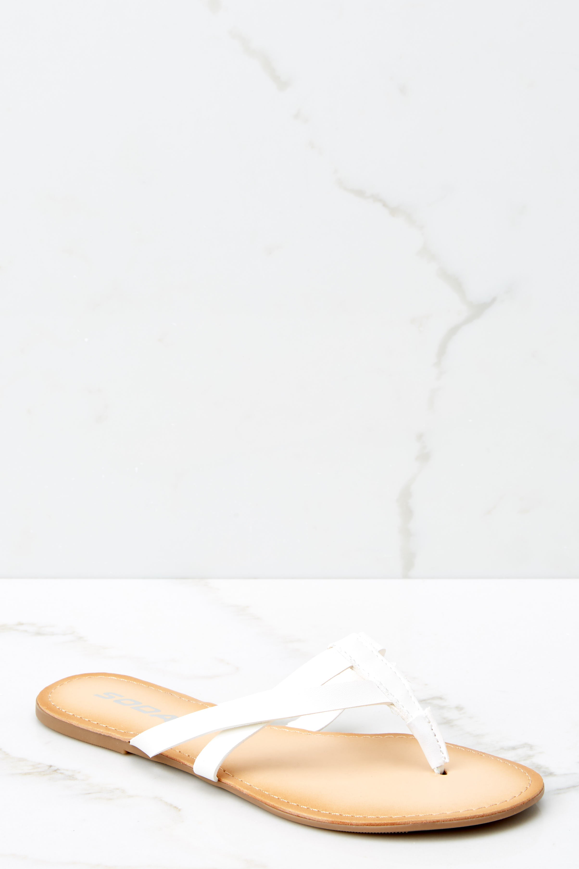 1 Chase The Thrill White Sandals at reddressboutique.com
