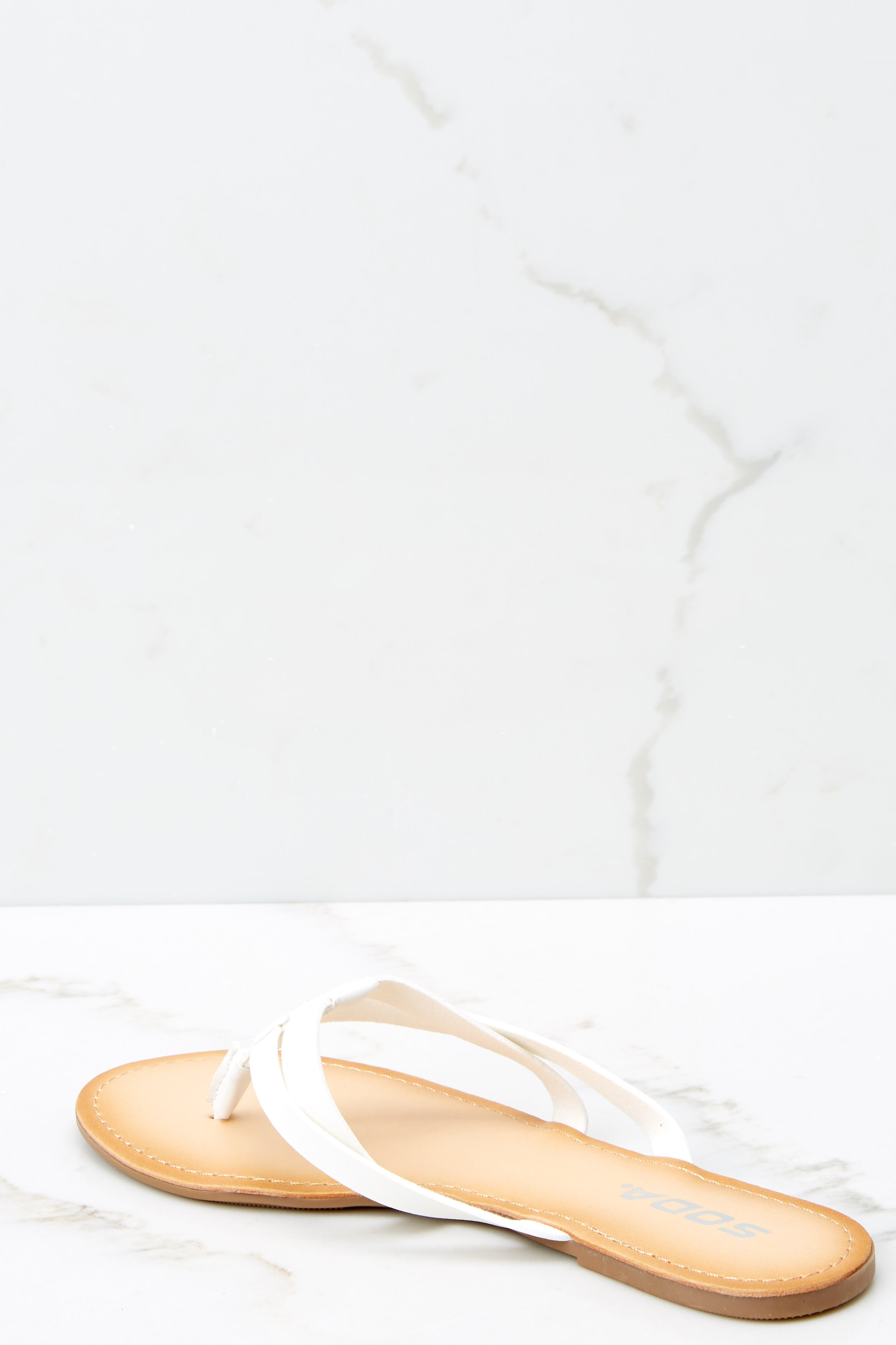 3 Chase The Thrill White Sandals at reddressboutique.com