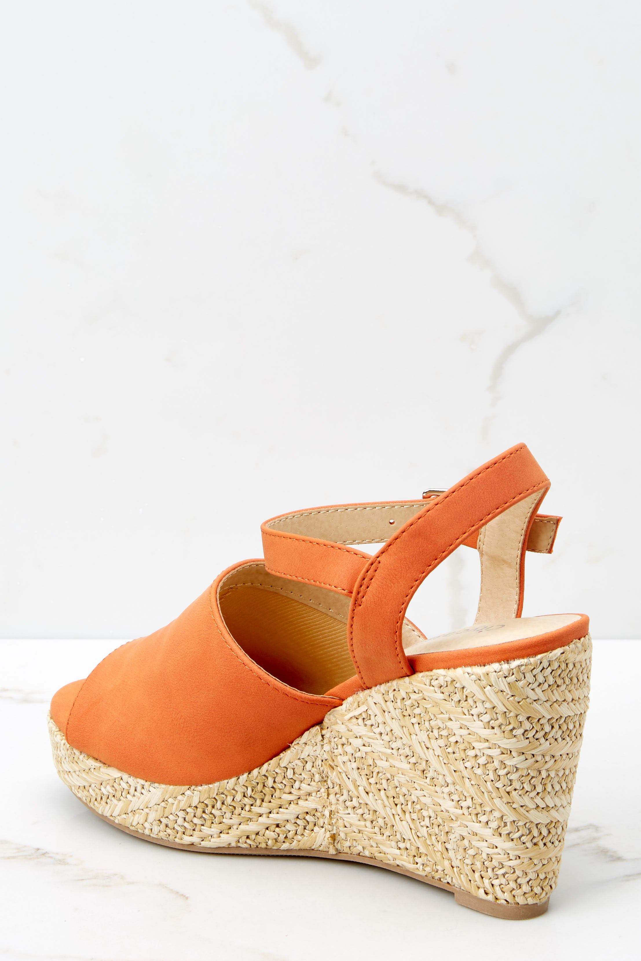 3 Walking On Sunshine Coral Orange Platform Wedges at reddress.com