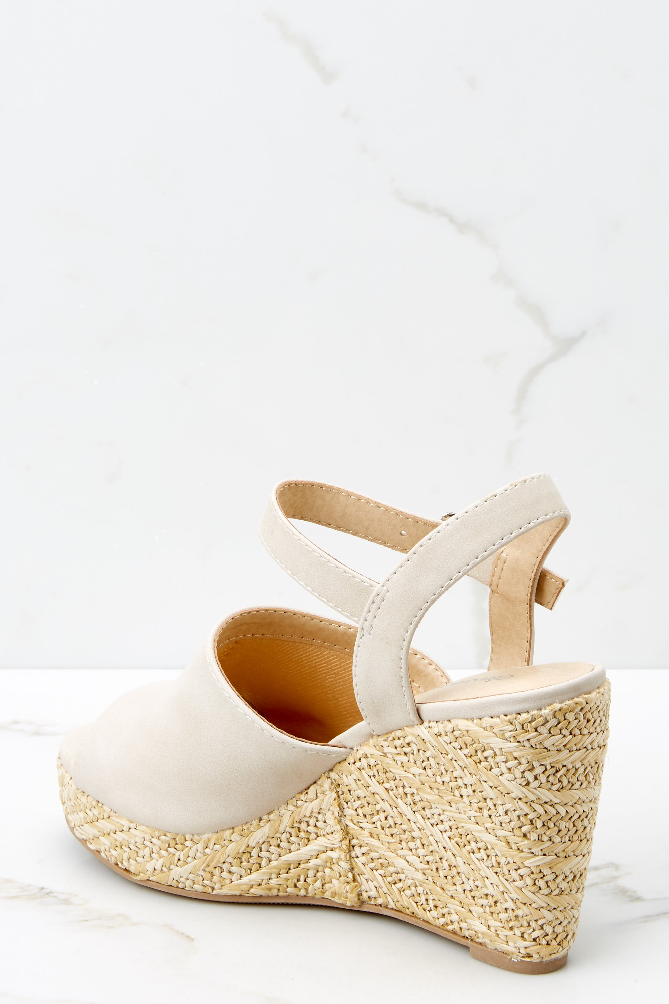 3 Walking On Sunshine Sand Platform Wedges at reddressboutique.com
